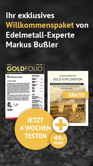 """Probeabo Goldfolio + Leitfaden """"Das Geheimnis der Gold-Exploration"""" gratis!"""